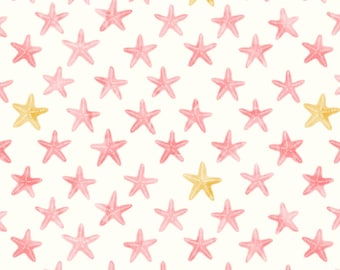 Pink Starfish Design Baby Muslin Swaddle Blanket, Baby Boy Baby Girl Gauze Swaddle Blanket, Summer swaddle, Pink and white swaddle