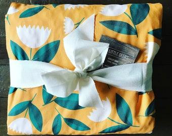 Floral, Flower, Fall baby girl, baby blanket, nursery bedding girl blanket, Flowers, Sqaush Orange, Pumpkin Orange
