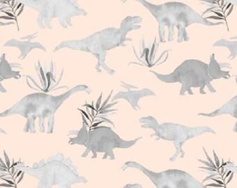 Dinosaur on Peach Baby Girl Swaddle, Muslin Swaddle Blanket, Gauze Swaddle Blanket,  gender neutral, baby boy, baby girl