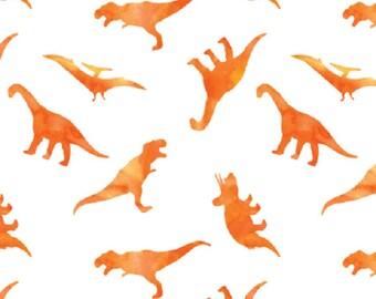 Dinosaur Baby Swaddle, Orange Dino Muslin Swaddle Blanket, Gauze Swaddle Blanket,  gender neutral, baby boy, baby girl