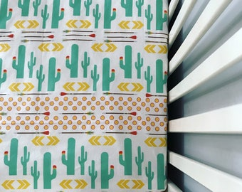 Sunny Cactus Baby Girl, Baby Boy Blanket, Southwest Print, Boppy Cover, Crib Sheet, Changing Pad Cover, Gender neutral, southwest, cactus