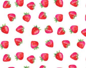 Strawberry Muslin Swaddle Blanket, Strawberry Gauze Swaddle Blanket, red fruit swaddle blanket, baby girl blanket, baby girl swaddle blanket