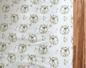 Baby Girl Woodland Floral Deer Blanket, Boppy Cover, Crib Sheet, Changing Pad Cover, Forest, Baby Girl, Nursing pillow cover