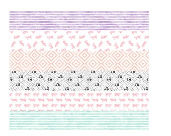 Farm, cowgirl, pig, tractor baby blanket // Whole Cloth Quilt // Pink, Purple, Blue, Gray