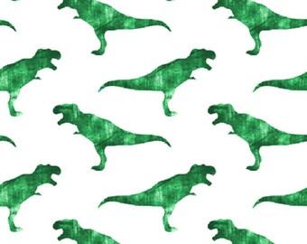 Dinosaur Baby Swaddle, Green T-Rex Muslin Swaddle Blanket, Gauze Swaddle Blanket,  gender neutral, baby boy, baby girl