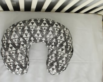 Triangle Geometric Boppy Cover, Baby Blanket, Crib Sheet, Changing Pad Cover, gender neutral, baby boy, baby girl