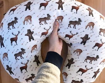 Woodland Deer Moose Elk Bear Arrow Baby Boy Boppy Cover, Crib Sheet, Changing Pad Cover, Hunter, Forest, Baby Boy, Nursing pillow cover