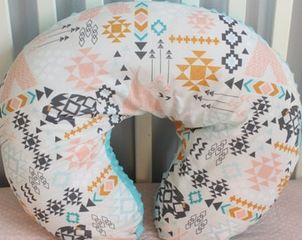 Baby Girl Tribal Boppy Cover, Southwest Baby Girl Blanket, Tribal Crib Sheet, Changing Pad, Tee Pee, Buffalo, Arrow