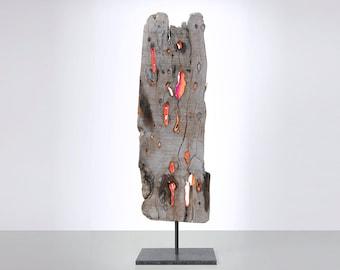 sculpture art wedding gift deco roomdesign driftwood wood neon JEVO
