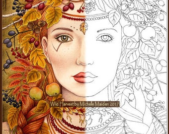 Popular Items For Adult Coloring Pages