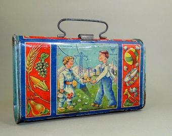 369644bc2770 Old school lunch box | Etsy