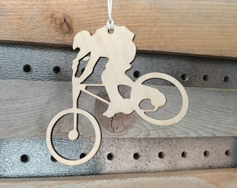 Mountain Biking Ornament, Biking, Downhill Mountain Biker