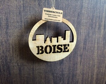 Boise Wood Ornaments/Gift Tags