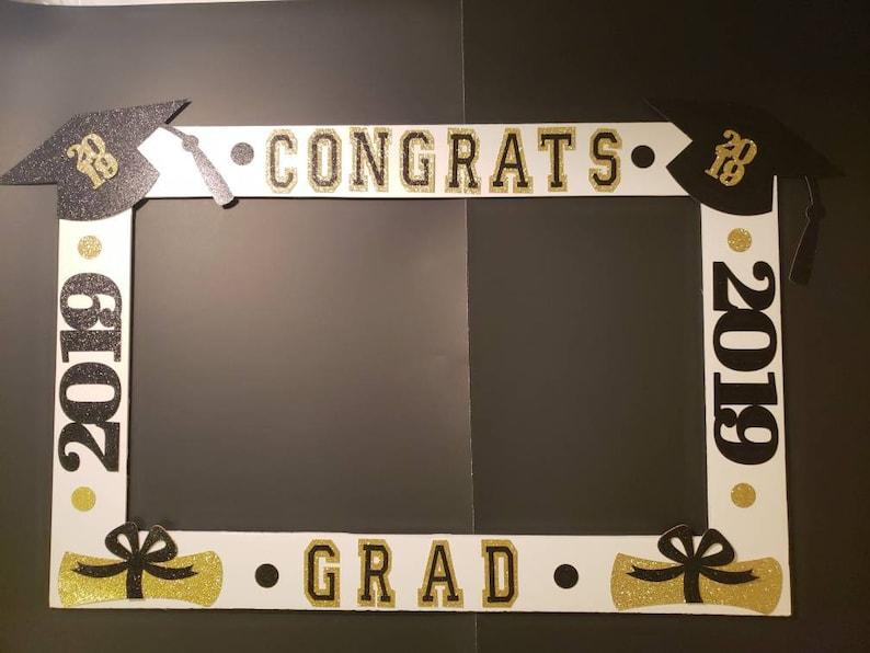 2019 Black And Gold Graduation Frame Ready Made No Etsy