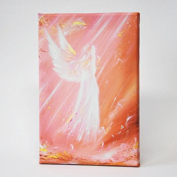 """Kunstfoto für Bilderrahmen /""""Einen Engel getroffen/"""" Engelbild Spirituell Wanddeko"""