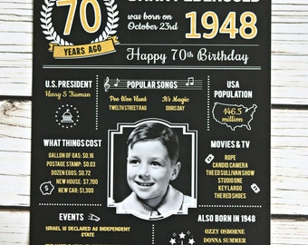 70TH BIRTHDAY PARTY Banner Happy Birthday Cheers To 70