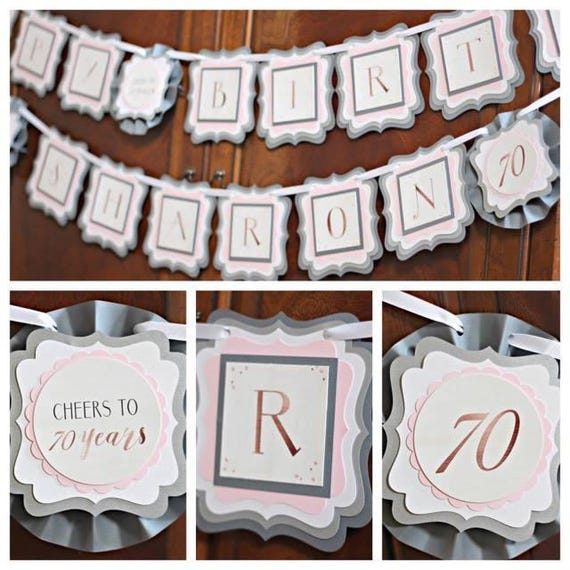 70th BIRTHDAY DECORATIONS Happy Birthday Banner Sign