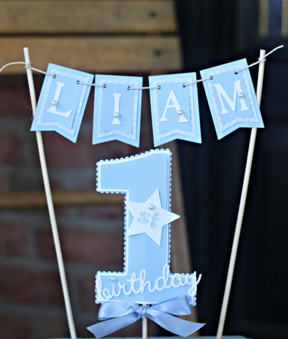 BOY 1ST BIRTHDAY 1st Birthday Cake Topper Smash First
