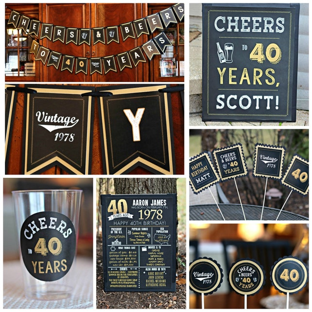 50TH BIRTHDAY DECORATIONS 50th Birthday Party Welcome Sign Door Yard Masculine For Him Black And Gold