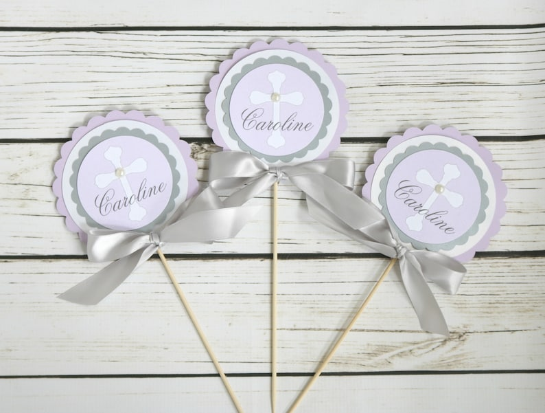 First Communion Centerpiece Baptism Decorations Table Etsy