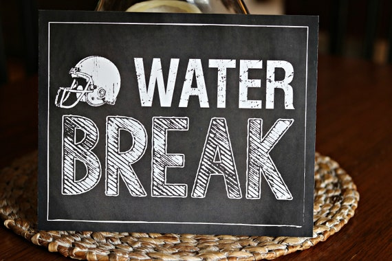 Water Break Football Birthday Party Decorations Printed