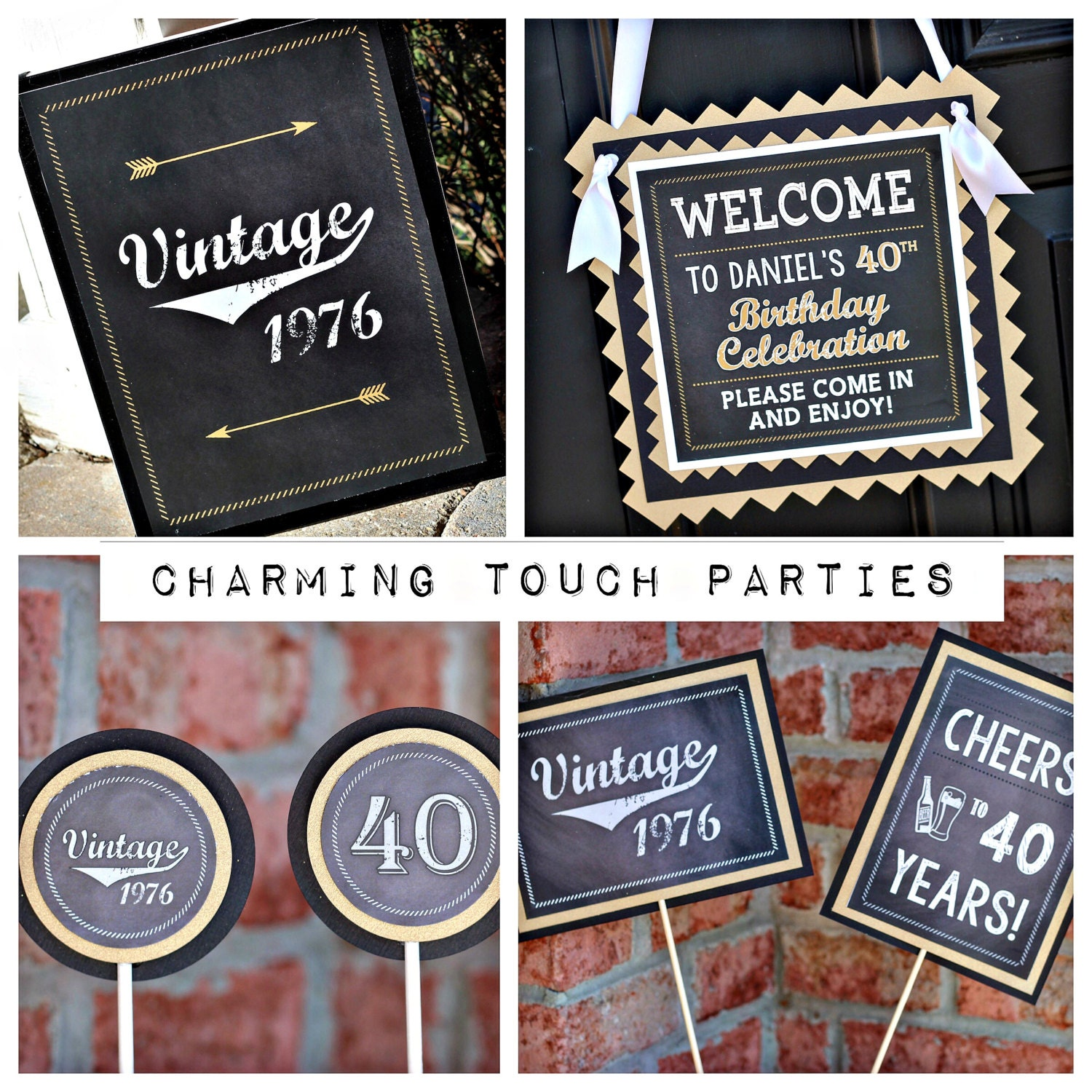 40TH BIRTHDAY PARTY Decorations 40th Party Package