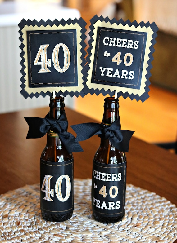 40TH BIRTHDAY DECORATIONS 40th Party Centerpiece Table Decorations