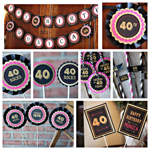 40TH BIRTHDAY DECORATIONS Ladies Birthday Decor 40th Party