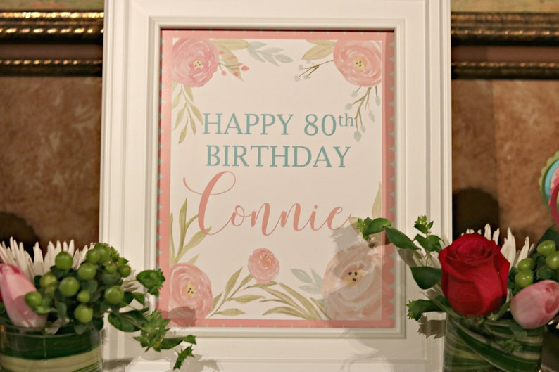 80TH BIRTHDAY DECORATIONS Welcome Sign Table Door