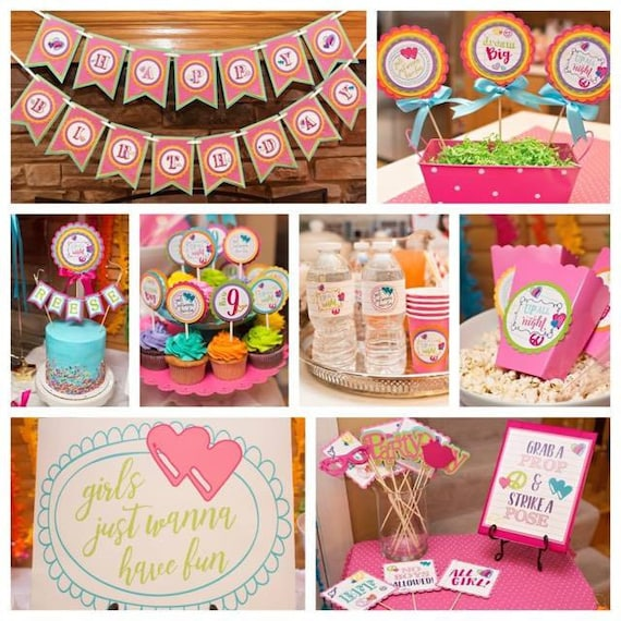 SLEEPOVER PARTY DECORATIONS Slumber party decor Girls Just