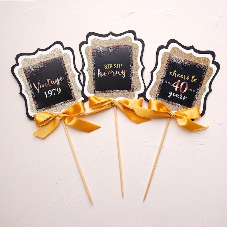 Table Decoration Centerpiece Sticks Milestone Birthday Birthday Photo Centerpiece Sticks Photo Signs