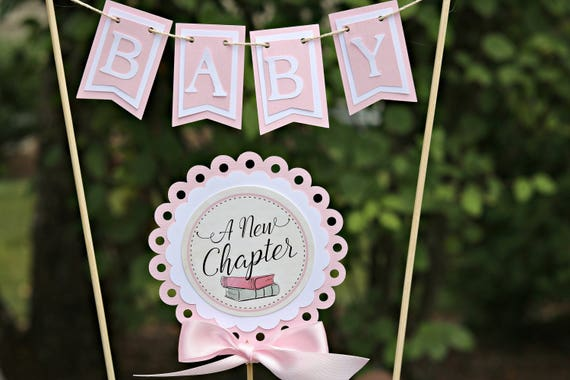 Book Themed Baby Shower Decorations  from i.etsystatic.com