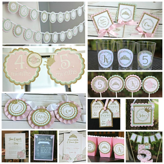 Floral Princess Birthday Party Decorations Once Upon A Time