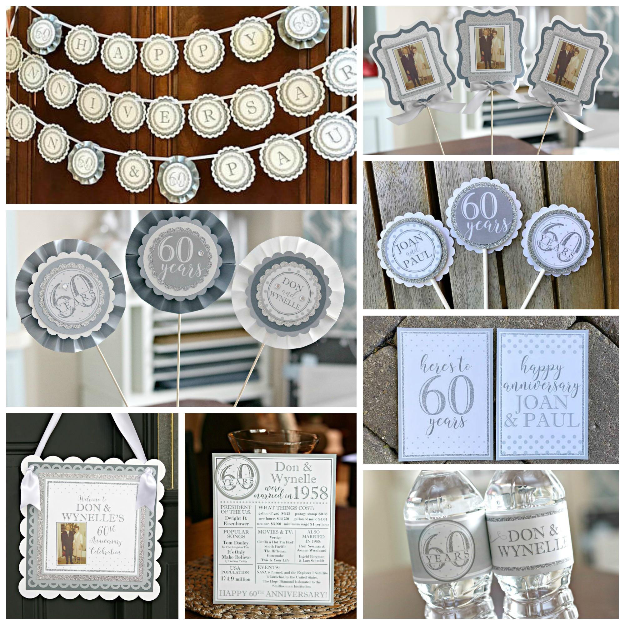 Silver Jubilee Wedding Anniversary Gifts: DIAMOND JUBILEE DECORATIONS 60th Wedding Anniversary