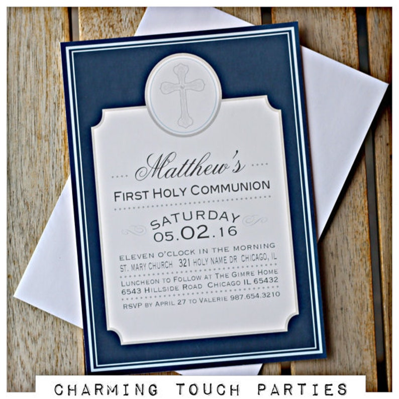 First Communion Boy, First Communion Banner First Communion Decoration God Bless Banner