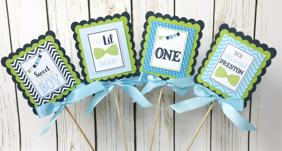Little Man Birthday Party Decorations Centerpiece Sticks Table Decoration Banner Our