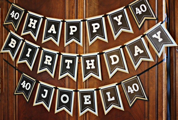 40TH BIRTHDAY PARTY Banner Milestone Birthday Party Decorations