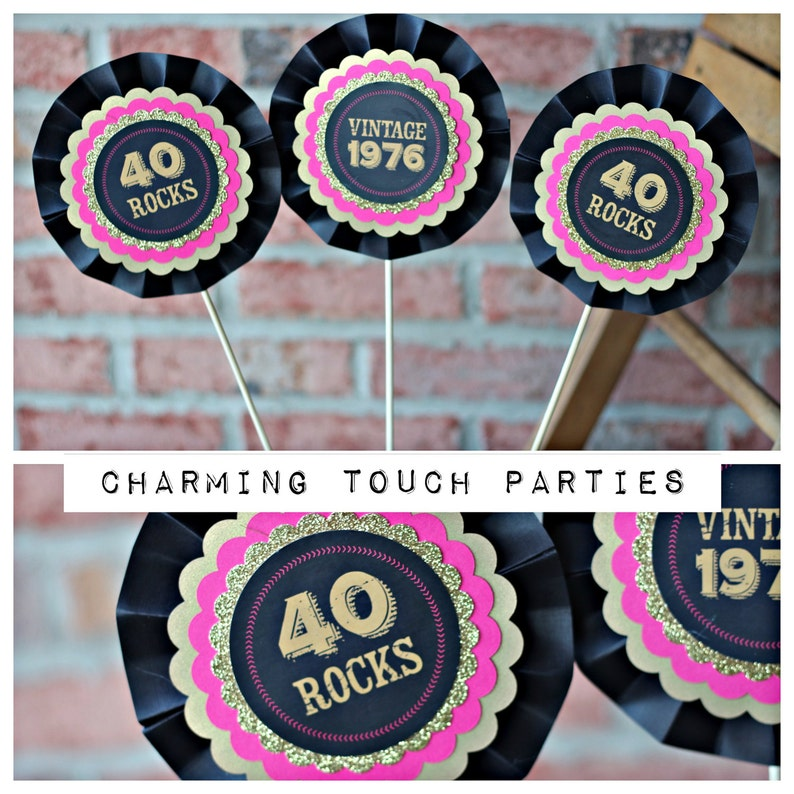 40TH BIRTHDAY DECORATIONS 40th Centerpiece