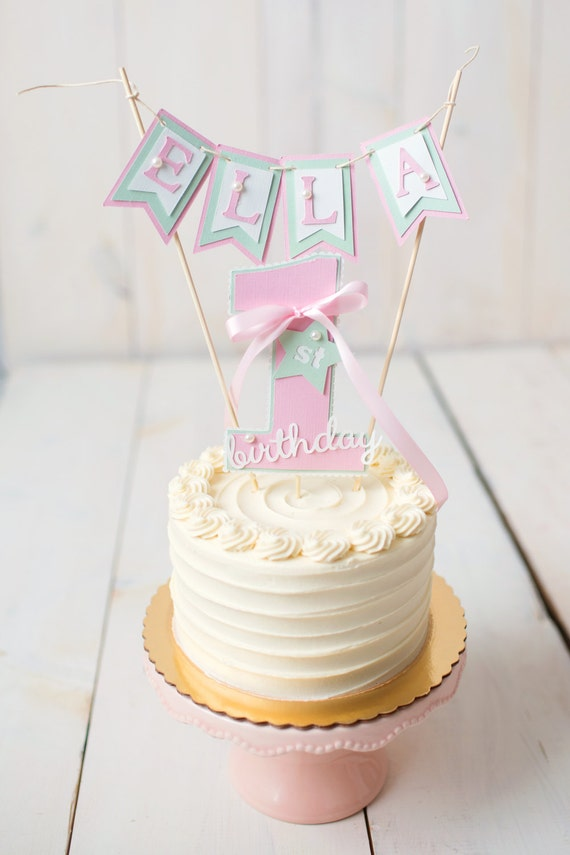 First Birthday Decorations First Birthday Cake Topper Smash Etsy