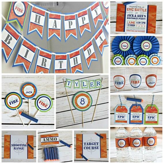 Dart Wars Birthday Banner Epic Battle Decorations Target Etsy