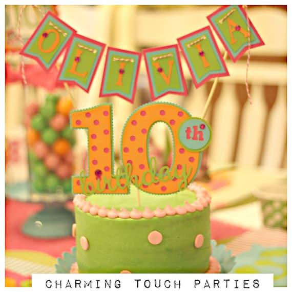 OWL BIRTHDAY PARTY Cake Topper Girl Birthday Decorations Smash