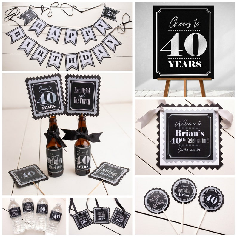 Aged To Perfection Beer Labels Adult Birthday Party Decor 40th Birthday Centerpiece Milestone Birthday Decorations