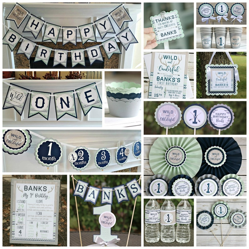 WILD And ONEderful Boy Wild One Birthday Party Decorations