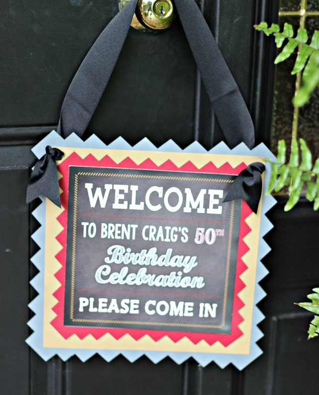 50th MILESTONE BIRTHDAY Party Welcome Sign Birthday