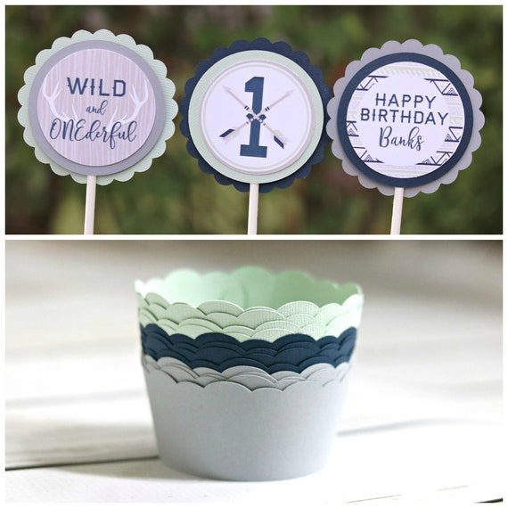 WILD And ONEderful Boy Wild One Birthday Party Decorations Cupcake