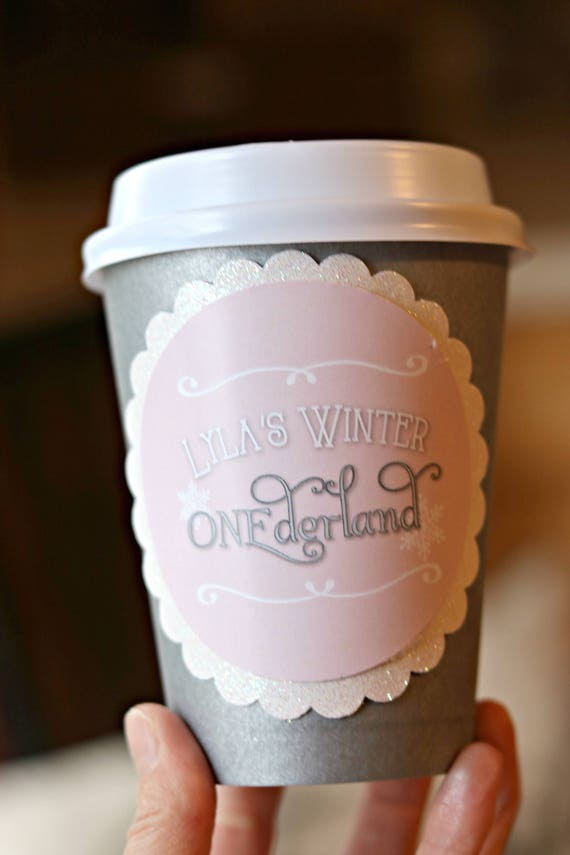 Hot Cocoa Cups Girl Winter Onederland Winter Wonderland 1st Birthday Party Hot Chocolate Cups Hot Chocolate Bar Pink And Silver By Charming Touch Parties Catch My Party