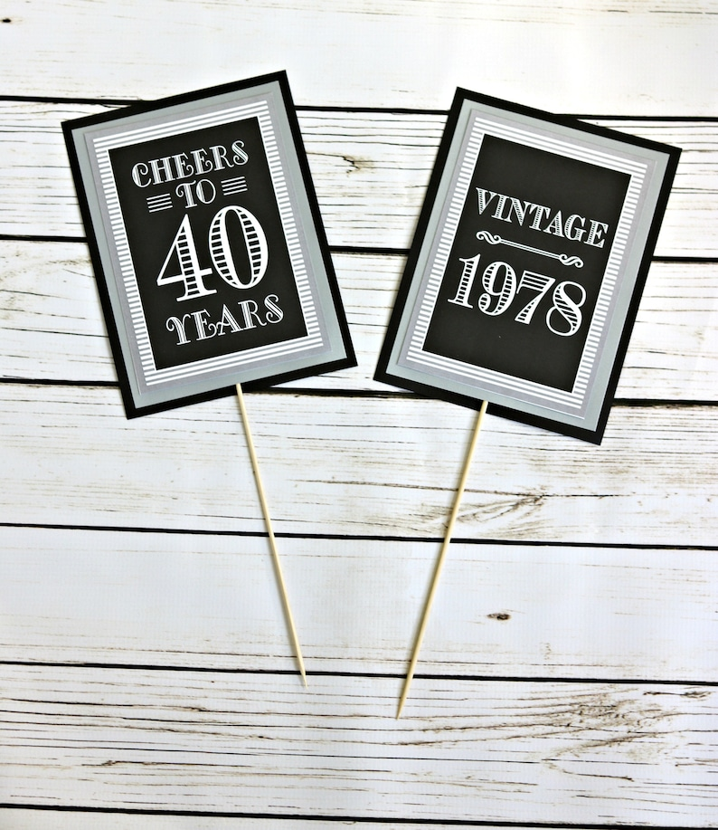 ADULT BIRTHDAY PARTY Decorations Milestone 40th Birthday
