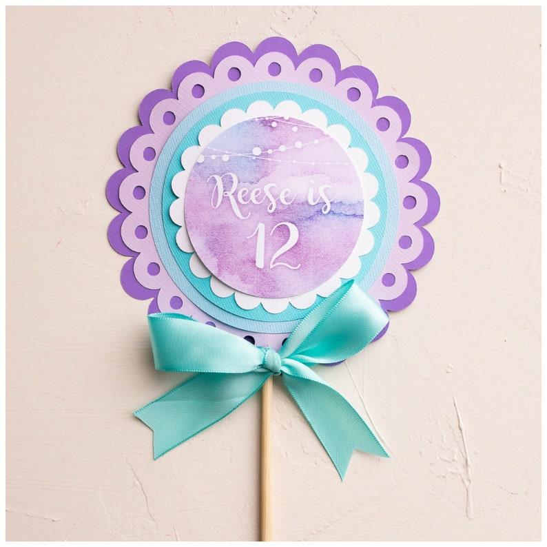 Pleasing Girl Teen Cake Topper Tween Birthday Decorations Lavender Etsy Personalised Birthday Cards Vishlily Jamesorg