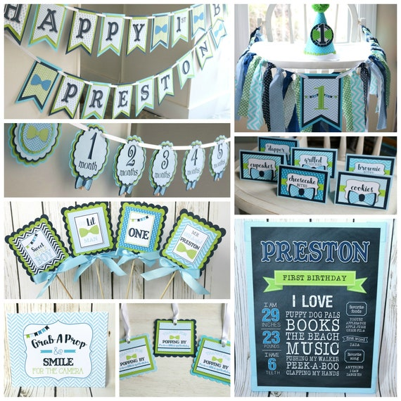 LITTLE MAN Birthday Party Decorations Little Man Banner Our