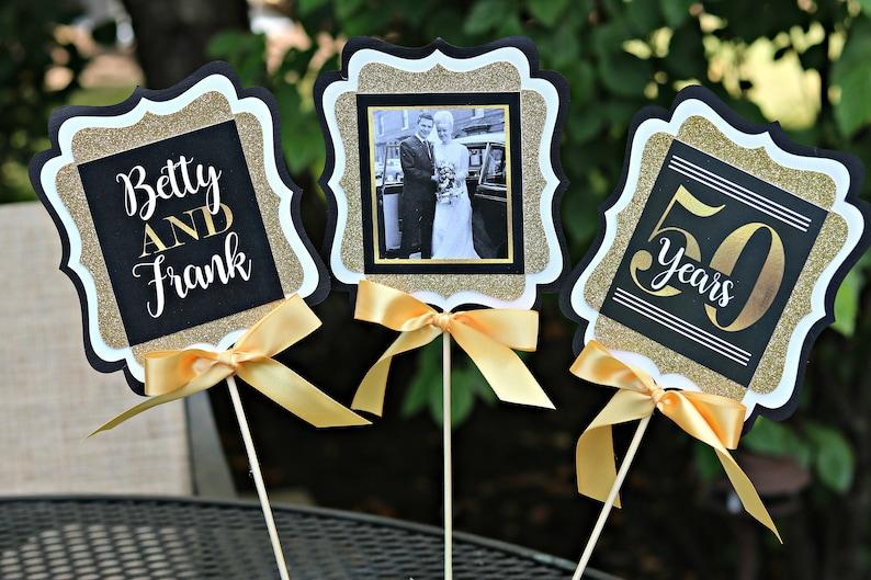 50th Wedding Anniversary Gift Ideas Gold: GOLDEN ANNIVERSARY 50th Anniversary Party Decorations